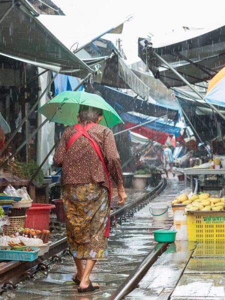 Railway market in Thailand