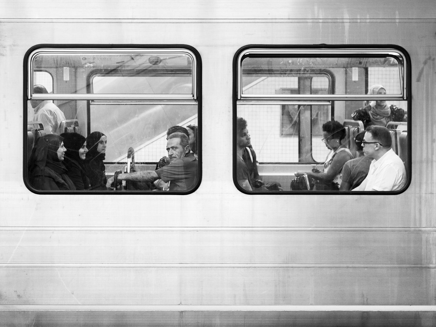 Commuters in Brussels